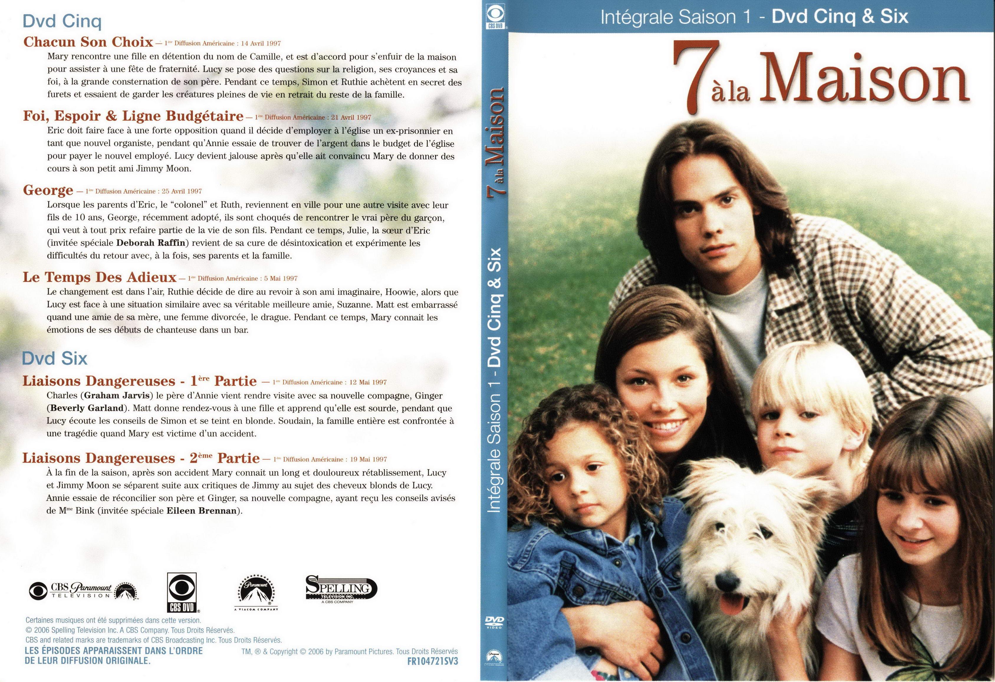 Jaquette slim dvd for 7 a la maison saison 1