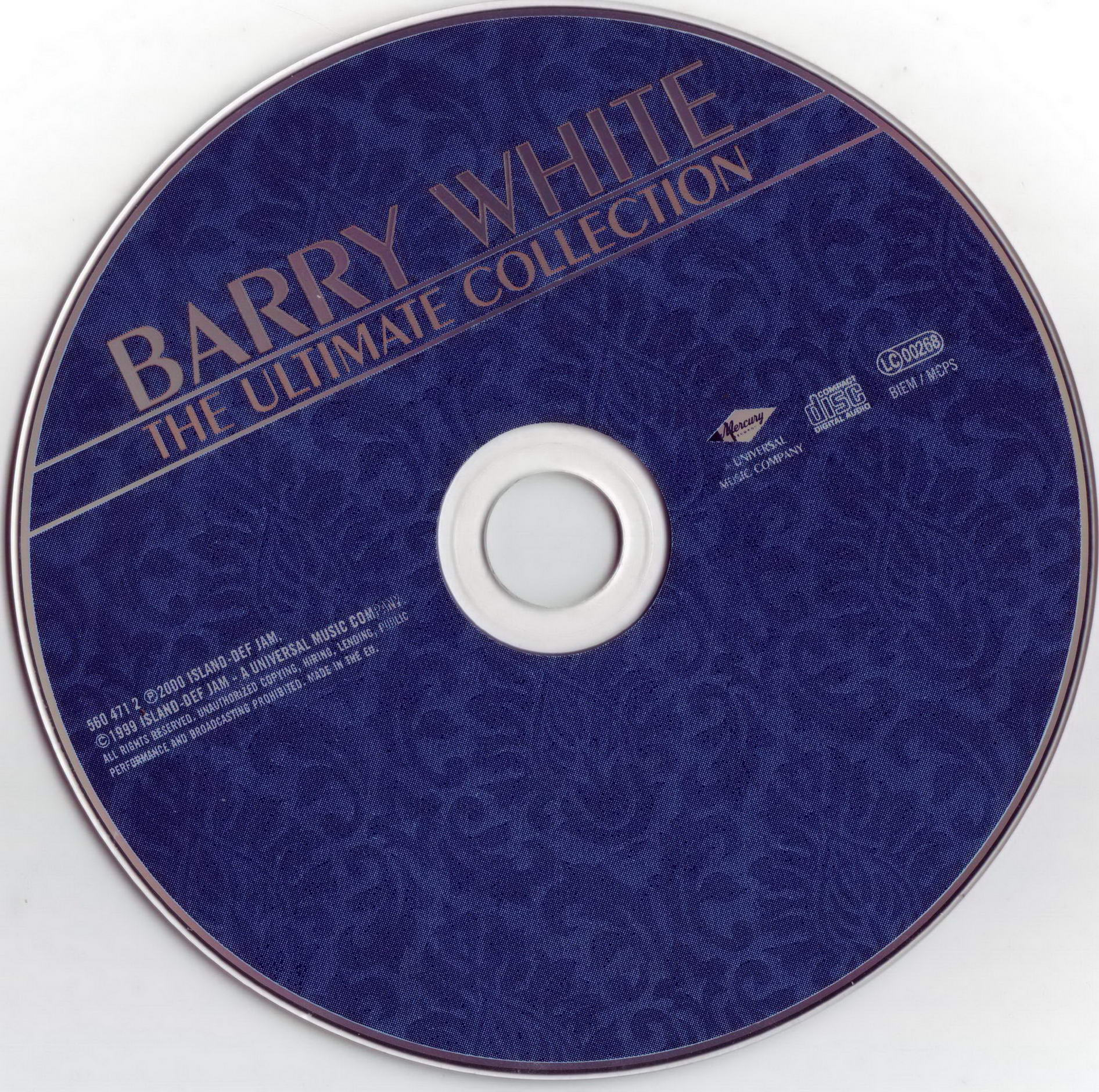 Barry White Ultimate Collection: Jaquette Audio