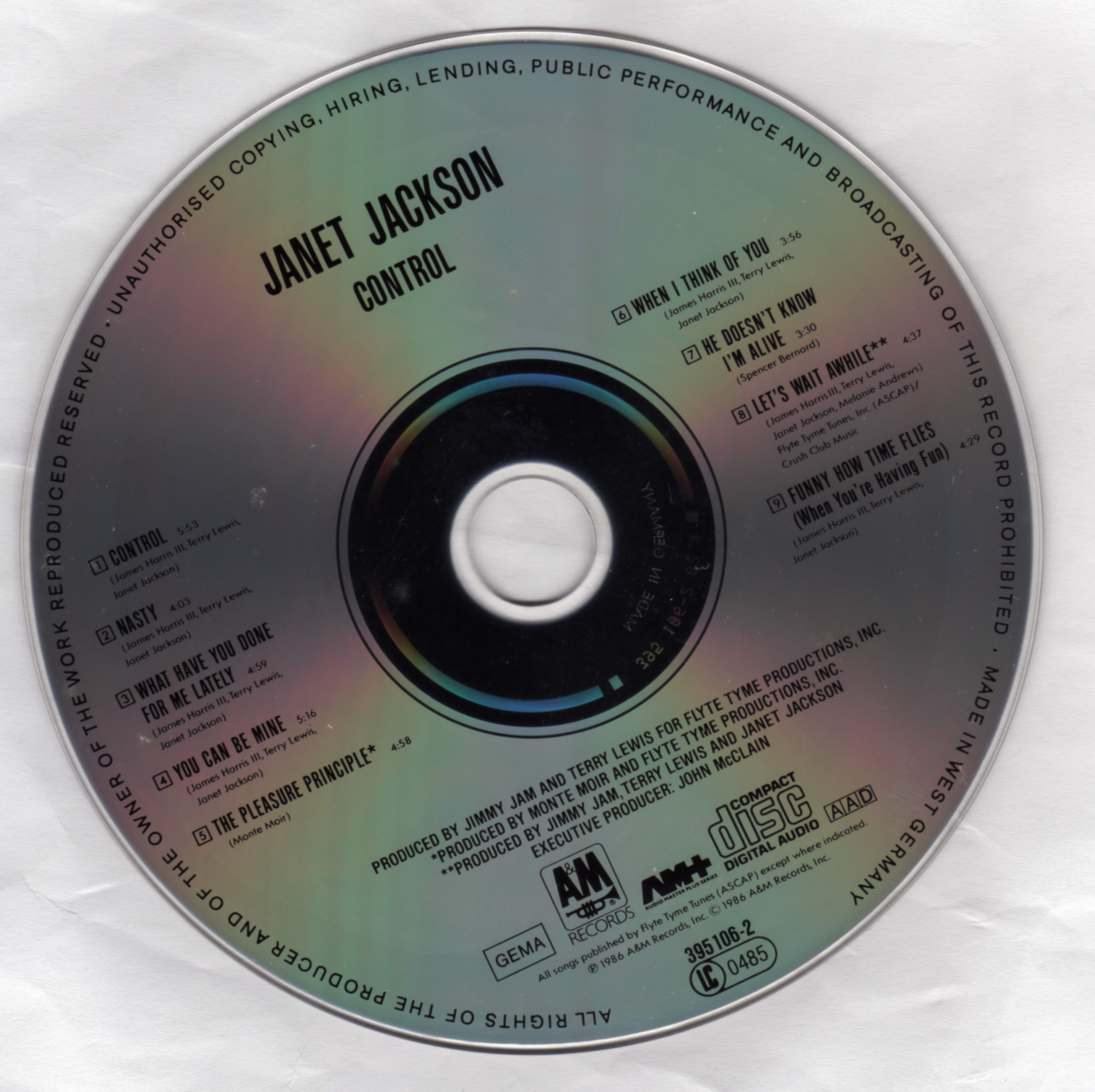 Janet jackson control cd