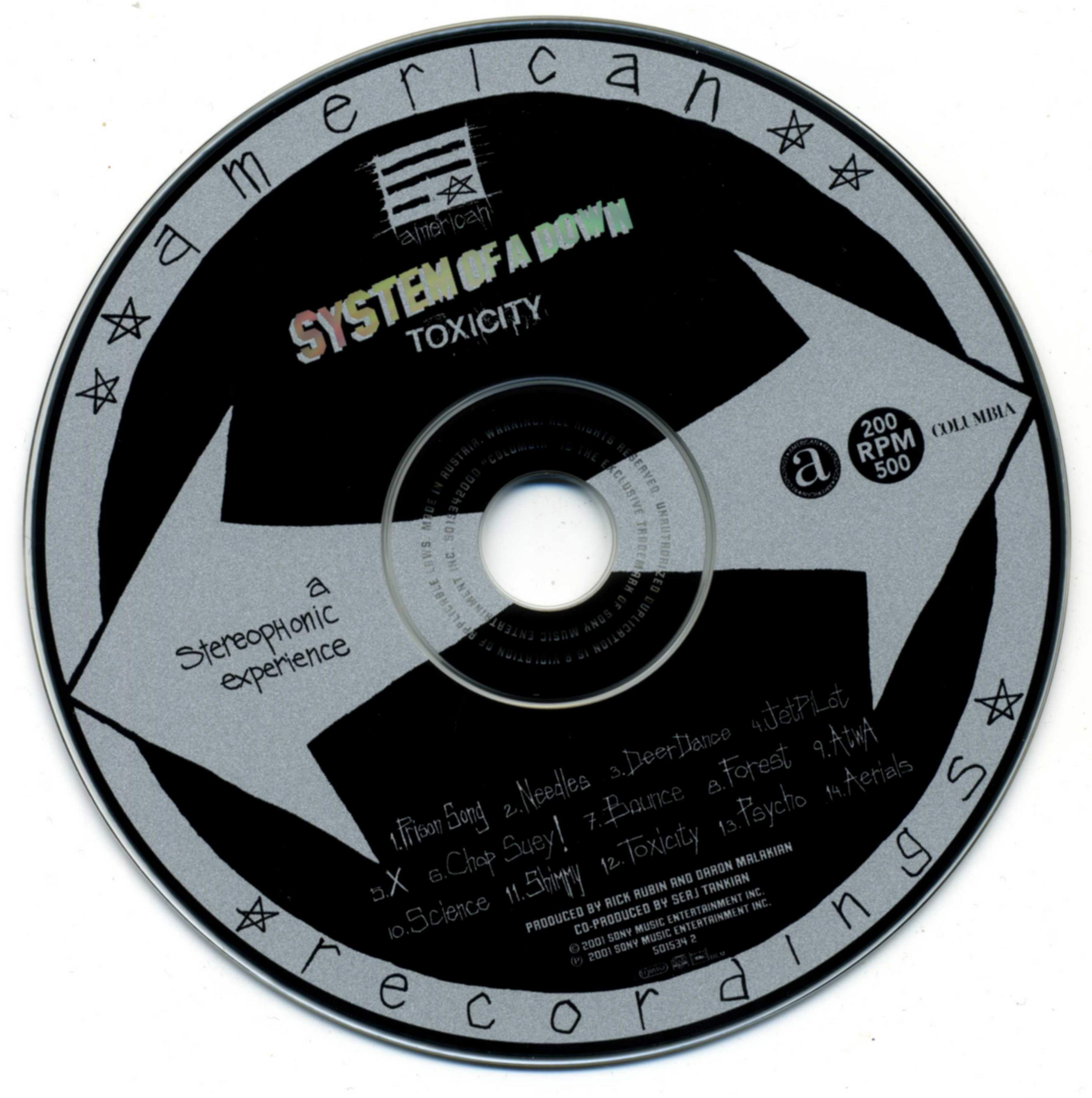 System Of A Down Mezmerize Album Cover Art Down toxicity album cover Toxicity System Of A Down Video